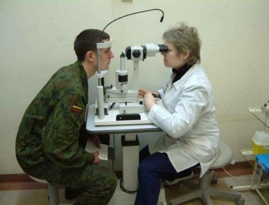 проверка зрения в армии