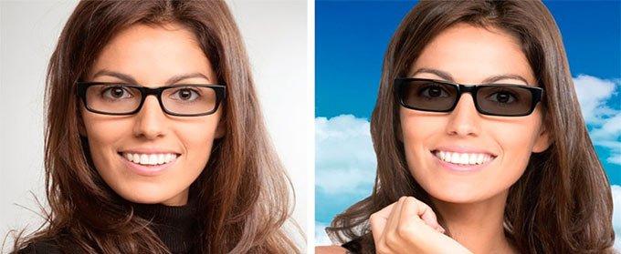 очки хамелеоны с диоптриями