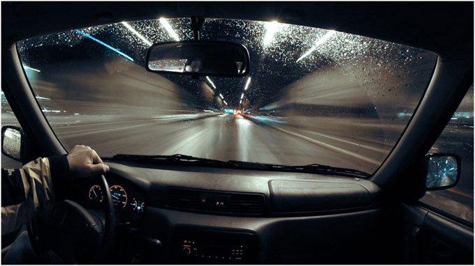 как видит водитель ночью