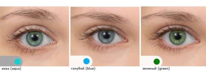оттеночные линзы для карих глаз