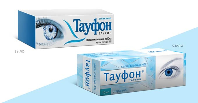 капли для глаз тауфон