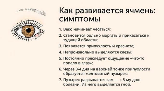 симптомы ячменя