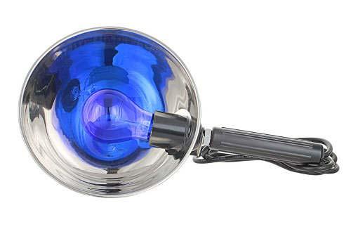прогревание ячменя синей лампой
